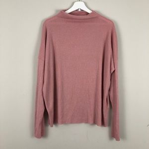 Lucky Brand Cloud Jersey Pullover mock neck